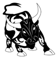 Bull tattoo with ornament decoration vector image