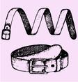 mans belt fashion accessory vector image