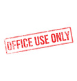 Office Use Only red rubber stamp on white vector image