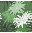 Seamless Green Daisy Background vector image vector image