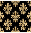 Golden seamless pattern of royal fleur-de-lis vector image