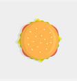 burger top view vector image