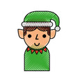christmas elf cartoon character santa helper vector image