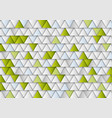 green and grey concept tech triangles background vector image