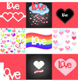 LoveCards Set vector image