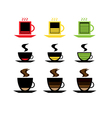 low battery coffee vector image