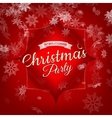 Merry Christmas Party invitation template EPS 10 vector image