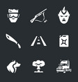 Set of post-apocalypse road icons vector image