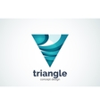 Triangle logo template triple cycle or pyramid vector image vector image