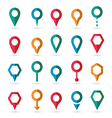 colorful map pointer icons set vector image