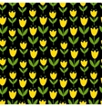 seamless with yellow tulips vector image