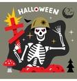Halloween Skeleton Cartoon vector image