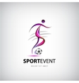 football soccer logo Man with ball vector image