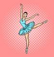 ballet dancer pop art style vector image