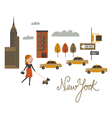 walk around New York city vector image
