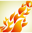 fire background vector image vector image