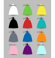 Set of caps for your design vector image vector image