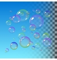 Color Soap bubbles vector image