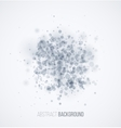 Blue sparkles on white background vector image