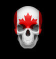 Canadian flag skull vector image