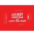 Typographic Christmas card design vector image