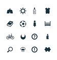 baby kids icons set vector image