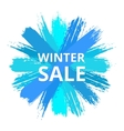 Blue Sale Banner from Brush Strokes vector image