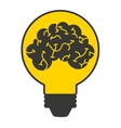 brain storming mind icon vector image