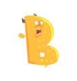 cartoon character monster letter b vector image