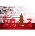 Celebrate 2013 year vector image