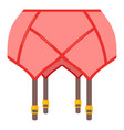 garter belt stockings icon cartoon style vector image