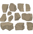 stones set cartoon vector image