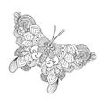 Zentangle stylized butterfly vector image