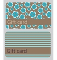abstract beautiful set of gift card design vector image vector image