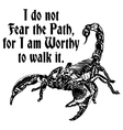 Scorpion worthy of the path vector image