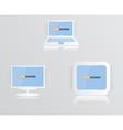 monitor icon blue 010413 vector image