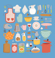 kitchen set icon vector image