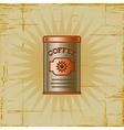 Retro Coffee Can vector image vector image