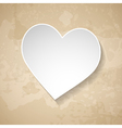 vintage background with a paper heart vector image vector image