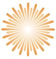 Radiating sun burst vector image vector image
