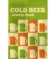 beer poster green vector image