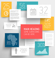 abstract rectangles background infographic vector image vector image