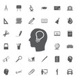 creative ideas light bulb concept ideas icon vector image