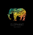 elephant creative colorful logo template vector image