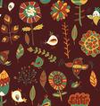 flower and bird Seamless texture vector image