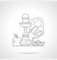 fruit hookah detailed line vector image