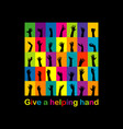give a helping hand concept vector image