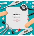 Medical template with medicine equipment vector image