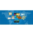 mobile banking finance application smart phone vector image