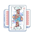 Hipster on playing card vector image